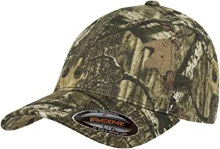 Flexfit Fitted Low Profile Mossy Oak Camo Cotton Hat with Curved Visor