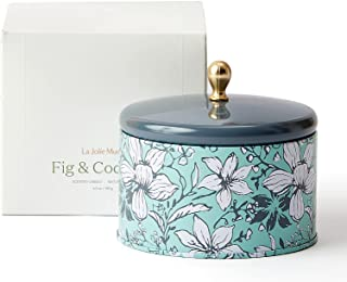 LA JOLIE MUSE Fig & Coconut Scented Candle, Natural Wax Candle for Home, 35 Hours Long Burning, Tin, 6.5 OZ