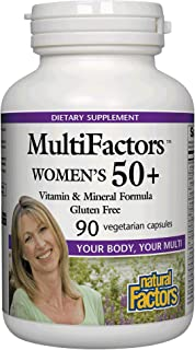 MultiFactors by Natural Factors, Women's 50+ Multivitamin & Mineral Formula, Dietary Supplement for Nutritional Support, 9...