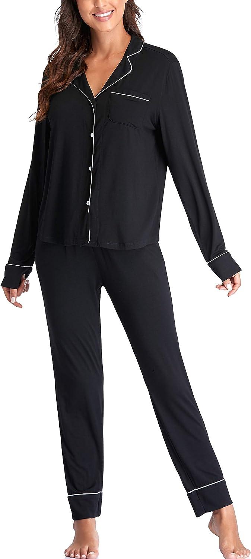 Button up Pajama Set for Women Pjs Sets Sleep Wear Ladies