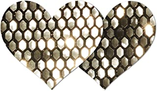 Nippies Re-Style Black Gold Sequins Reusable Heart Self Adhesive Nipple Cover Pasties