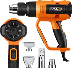 Heat Gun, Tacklife 122℉~1112℉(50℃~600℃) Precision Control Temperature by Adjustment Dial with Three Temp-settings, Four No...
