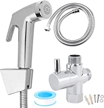 Vinteky Handheld Bidet Sprayer Shattaf Cloth Diaper Sprayer for Toilet Attachment with Adjustable Water Pressure Control Shut-Off