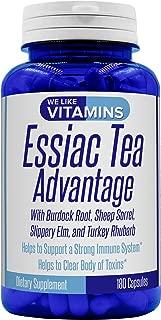 Essiac Tea Advantage 180 Capsules 900mg Herbal Supplement and Immune Booster with Essiac Tea Capsules