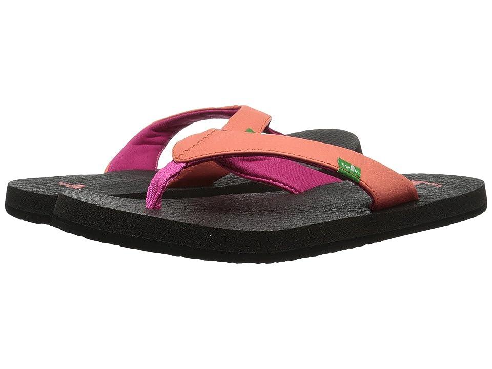 Sanuk Kids Yoga Mat (Little Kid/Big Kid) (Hot Coral/Fuchsia) Girls Shoes