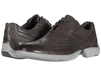 Rockport Total Motion Advance Wing Tip (Steel Grey) Men