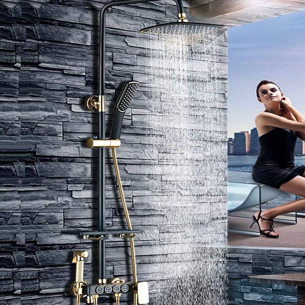 余暇嵐の予約ブラックシャワーシェルフシャワーセットサイズとセット/全銅の蛇口浴室のシャワーブースターシャワーヘッド/ファイン銅のテーマ:* 900ミリメートル340 浴室用設備