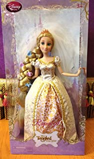 Disney Exclusive Tangled Ever After 12 Inch Rapunzel Wedding Doll Flowers In Hair!