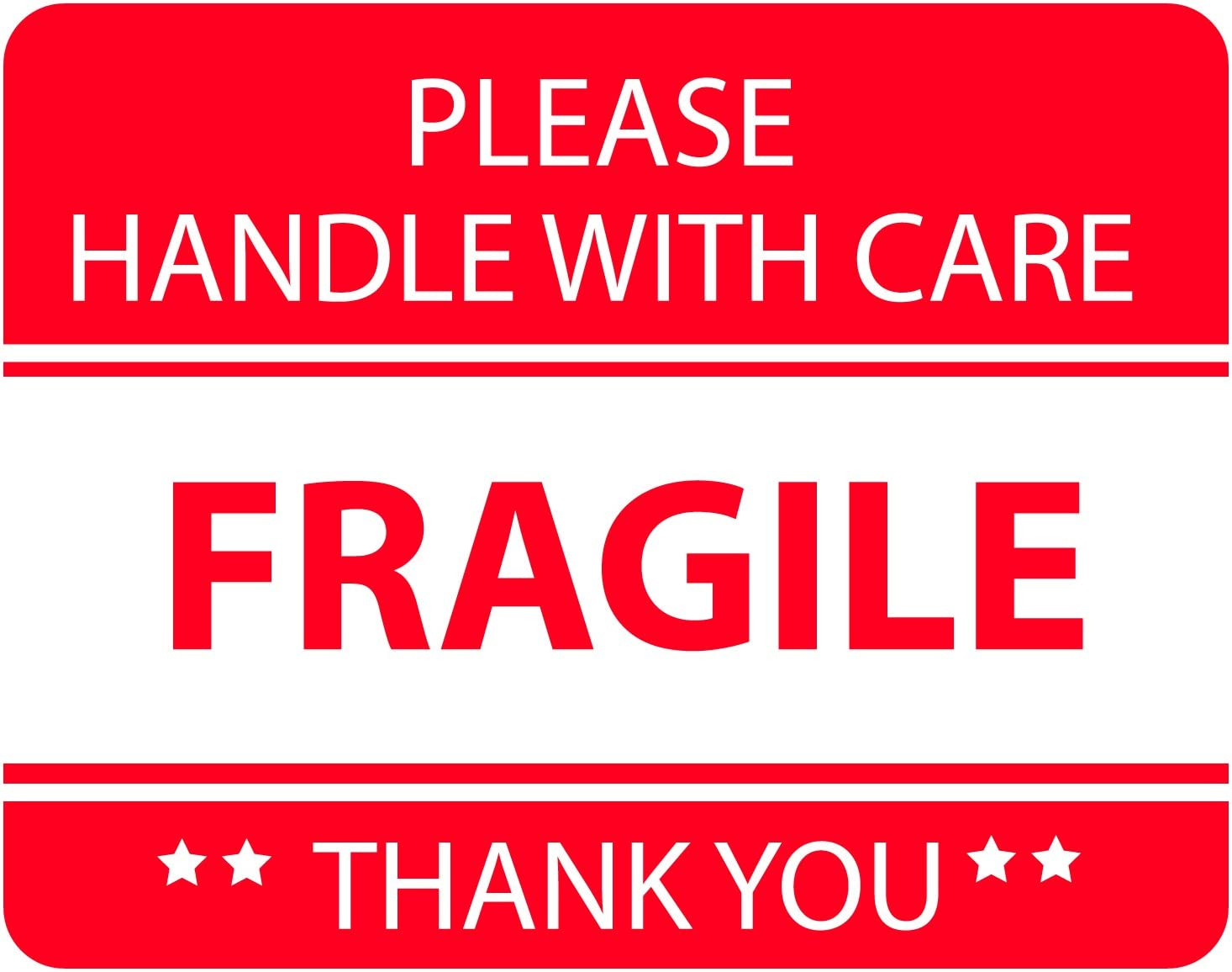 Amazon Com Red Fragile Warning Stickers For Safe Shipping Packing Of Goods With Clear Large Font Text And Strong Adhesive Backside 1 Roll 500 Labels 2 X 3 500 Industrial Scientific