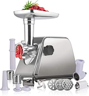Anbull Meat Grinder Electric 5-IN-1 1000W Stainless Steel Food Grinder Includes Sausage Stuffer Tube and 3 Grinding Plates...
