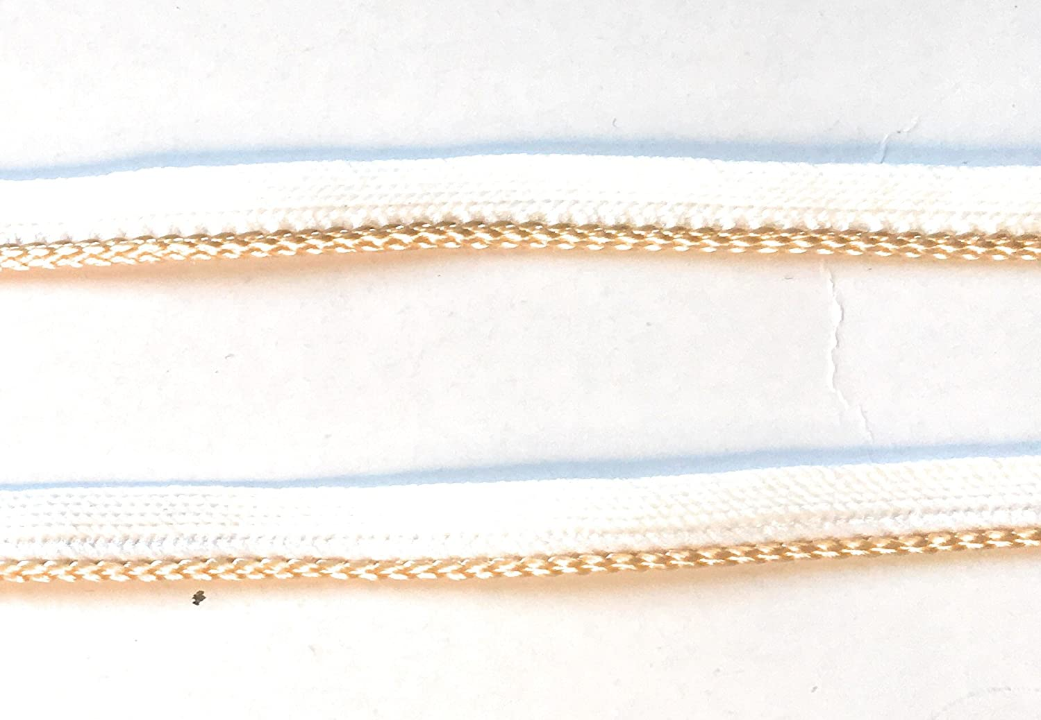 LIP CORDING Nude (Lt Beige) Spiral Edge Trim -Cord-edge -Piping Trim for Clothing Pillows, Lamps, Draperies 5 Yards Pi-129