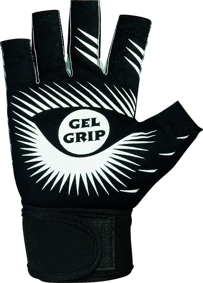 Silver Tone Cross Grip Gloves Unisex