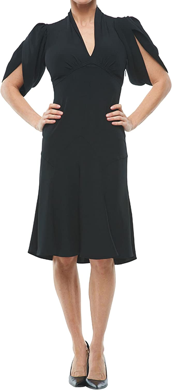 ROBERTO CAVALLI - Puff Sleeve Dress Black