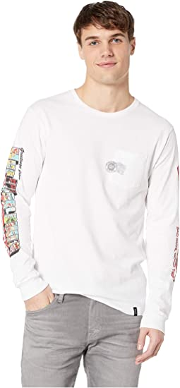 Greetings Long Sleeve Pocket Tee