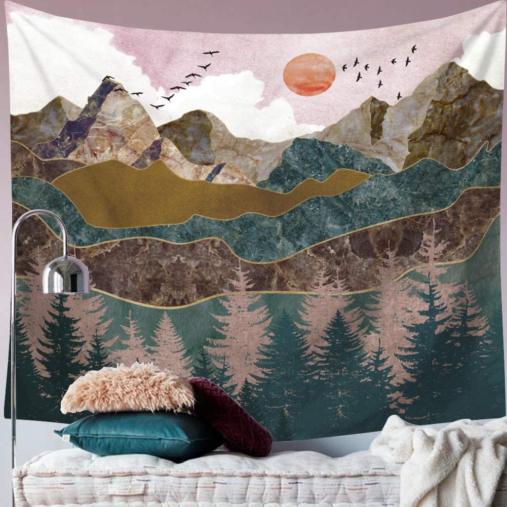 Max Sales 79% OFF Mountain Wall Hanging Tapestry - Nature Landscape Sunset Wal Art