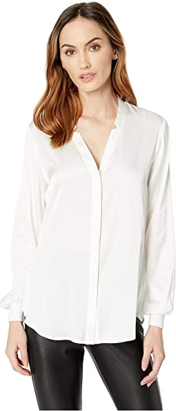 Long Sleeve Charmeuse Blouse