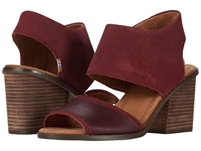 TOMS Majorca Block (Burgundy) Women