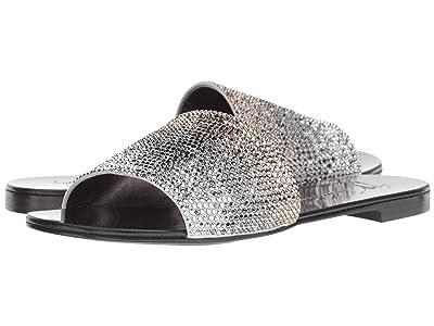 Giuseppe Zanotti Adelia Rhinestone Slide Sandal (Camoscio/Per Ricamo Bianco) Women