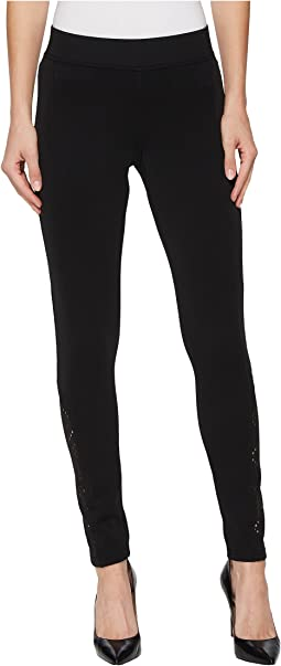 HUE - Laser Cut Ponte Leggings