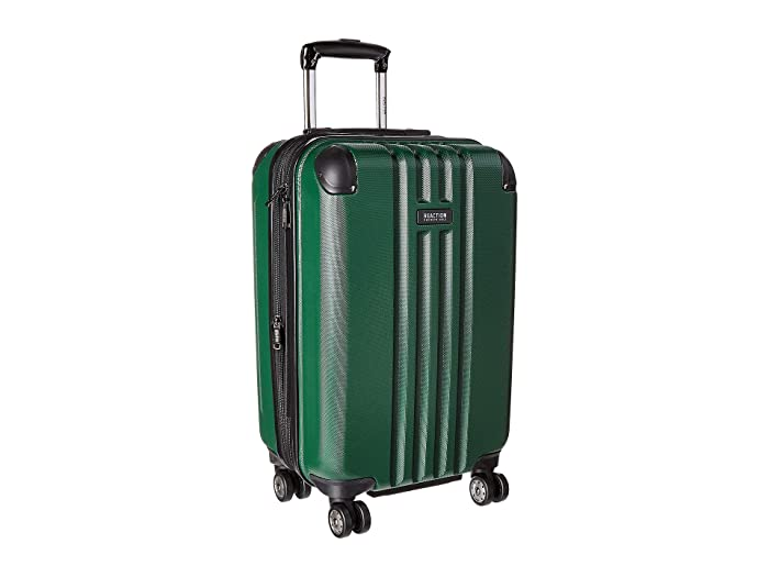 Kenneth Cole Reaction  20 Reverb Lightweight Hardside Expandable 8-Wheel Spinner Carry-On Suitcase (Dark Green) Luggage