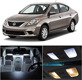 SCITOO 9Pcs White Interior LED Light Package Kit Replacement Bulbs Fits for Nissan versa 2012-2016