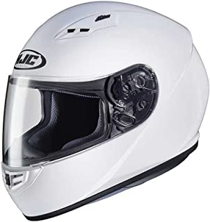 HJC Solid Adult CS-R3 Street Motorcycle Helmet - White/X-Large
