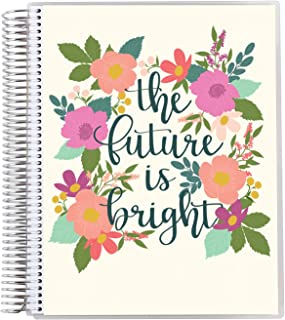 """8.5"""" x 11"""" Teacher Lesson Planner (August 2021 - July 2022) - Bright Future Cover with Layers Style Internal Pages. Dated ..."""