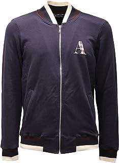 Aquascutum A Logo Zip Sweater Navy Jacket