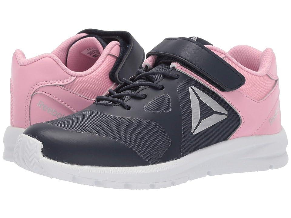 Reebok Kids Rush Runner A/C (Little Kid) (Navy/Light Pink) Girls Shoes
