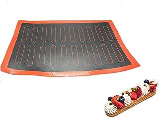 حصيرة سيليكون 20/44 ايكلير المعجنات غير لاصق بطانة ماكرون كوكي تارت الخبز لملحقات الخبز أدوات الحلويات (20 eclair)