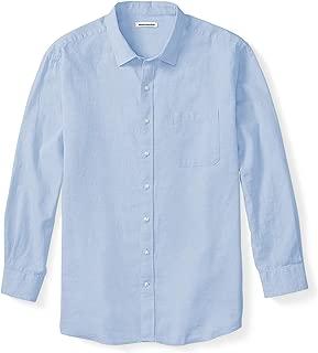 Men's Big & Tall Long-Sleeve Linen Cotton Shirt fit by DXL