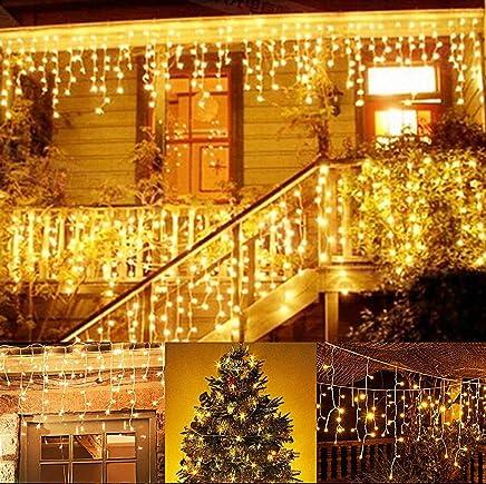 Guirlande lumineuse, 216 LED 5 M LED cordes, Rideau lumineux, LED étoilées,