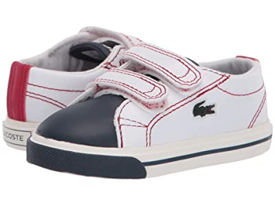 Lacoste Kids Riberac 120 1 CUI (Toddler/Little Kid) (White/Navy/Red) Kid