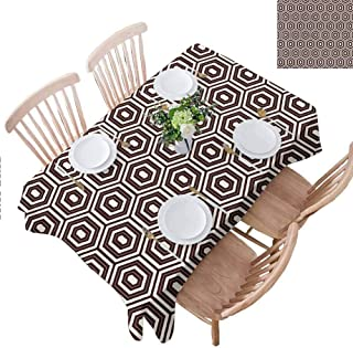 PINGYEHOME Clear Tablecloth, Outline Diamond Shape Square Table Cloth Home Decor for Kitchen Dinning Indoor Outdoor Table Decoration, W60 x L120 Inch