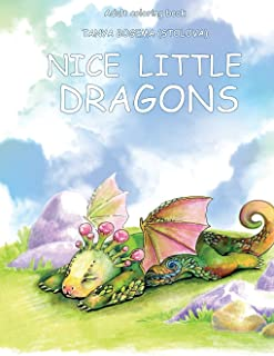 Adult Coloring Book: Nice Little Dragons (Volume 1)