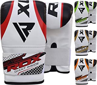 RDX Punching Gloves for Heavy Punch Bag - Maya Hide Leather Muay Thai, Kickboxing, MMA, Martial Arts Workout Mitts - Great for Focus Pads, Thai Pads, Double End Speed Ball, Grappling Dummy Training