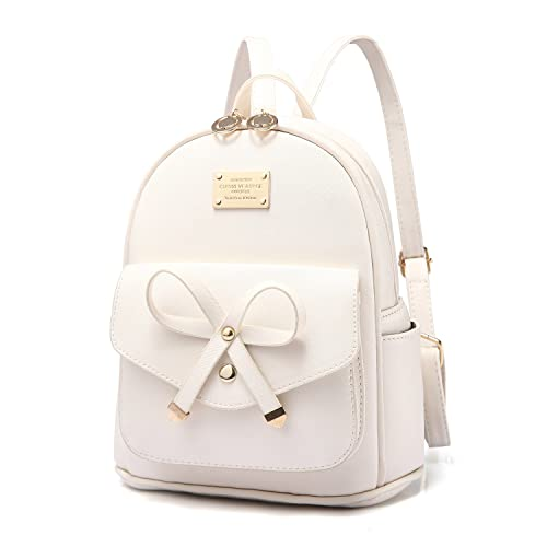 01d49ee395 PINCNEL Girls Bowknot Cute Leather Backpack Mini Shoulder Bag Backpack  Purse Women