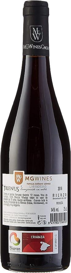 Tilenus envejecido en roble Vino Tinto - 6 botellas x 750 ml - Total: 4500 ml