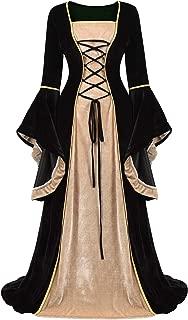Renaissance Costume Women Medieval Faire Costumes Velvet Irish Dress