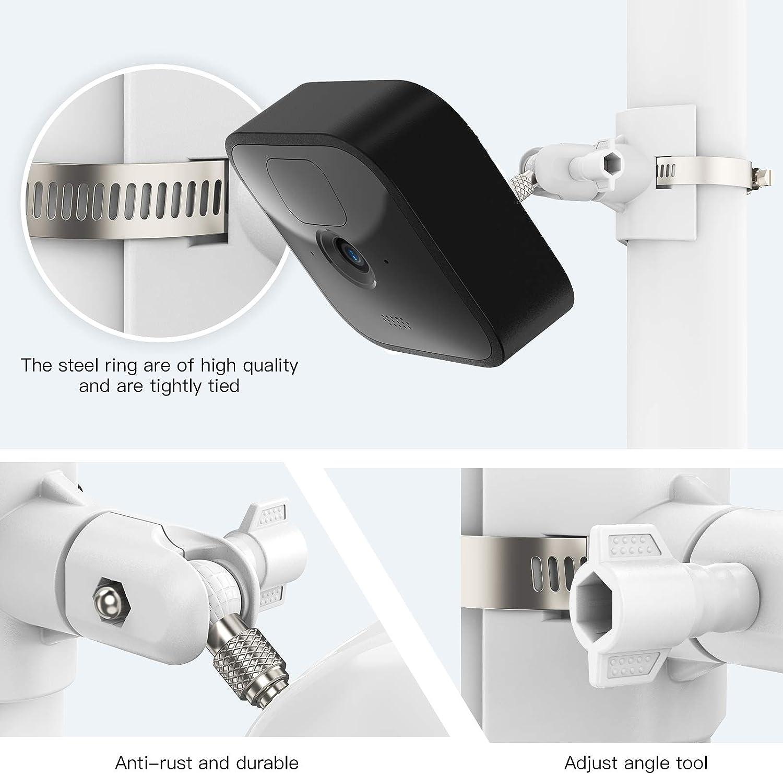 compatibile con il sistema di telecamere di sicurezza lampeggiante per interni ed esterni 1 pz Supporto di montaggio universale poli per Blink XT2 Blink Mini telecamera per esterni lampeggiante