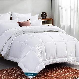 Bedsure Queen Comforter Duvet Insert White - Quilted Bedding Comforters for Queen Bed, All Season Down Alternative Comfort...