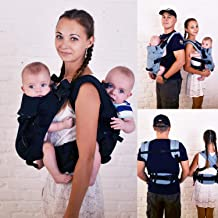 Malishastik Twins Baby Carrier Back Adapt Black
