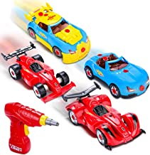 Take Apart Racing Cars Toys,Vimpro Build Your Own Toy Racer Car STEM Toys with 53 Pieces Assembly Car Toys with Drill Tool...