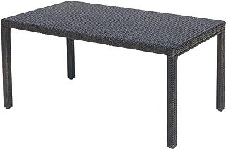 Christopher Knight Home 300278 Edene Outdoor Multibrown Wicker Rectangular Dining Table