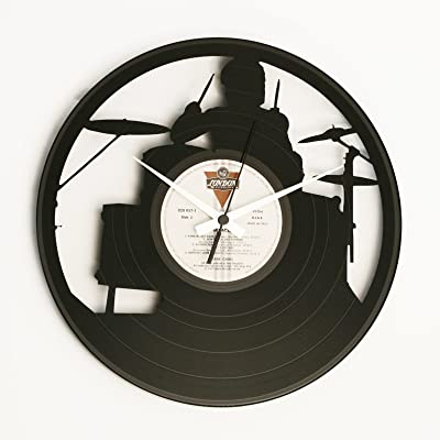 DISCOCLOCK Vinyl Wall Clock Drummer