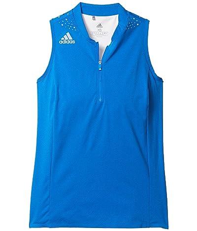 adidas Golf Racerback Polo Shirt (Glory Blue) Women