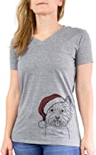 Inkopious Christmas Welma The Westie West Highland Terrier Dog Triblend T-Shirt