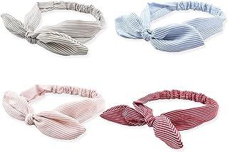 DRESHOW Boho Headbands for Women Girls Criss Cross Elastic Hair Band Twisted Head Wrap