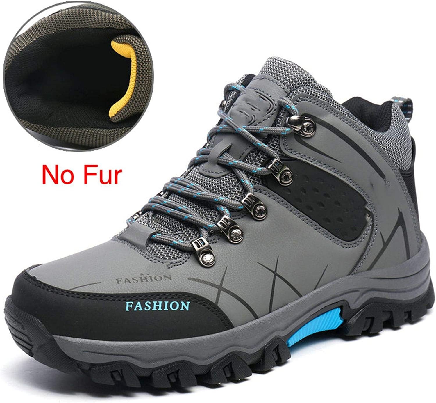 Coolemon Hiking Climbing shoes Delta Professional Waterproof Hiking Boots Tactical Boots Outdoor Mountain Climbing Sports Sneakers,Yellow,45