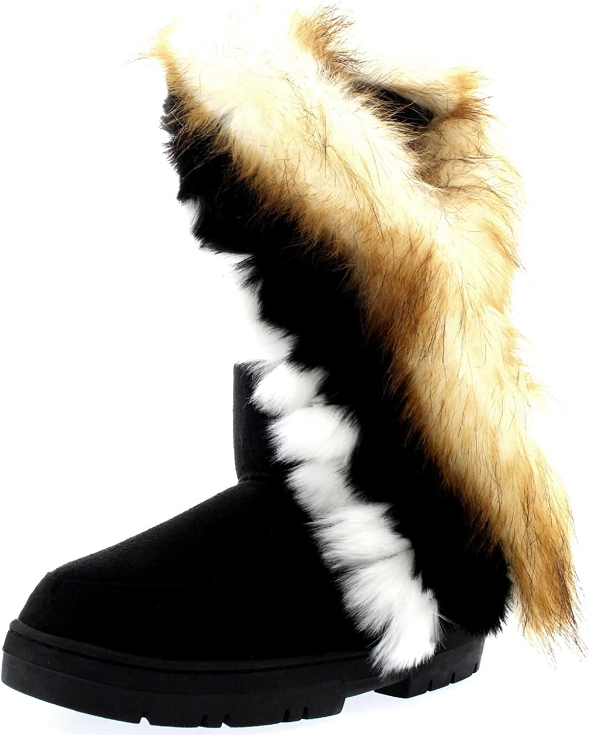 Holly Womens Tall Tassel Winter Cold Weather Snow Rain Boots